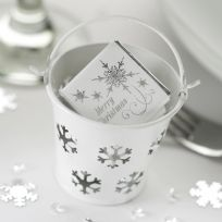 Shimmering Snowflake - White Favour Pails (5)